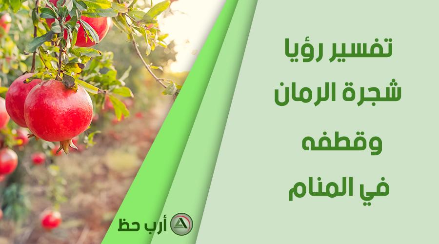 شجرة الرمان وقطفه في المنام
