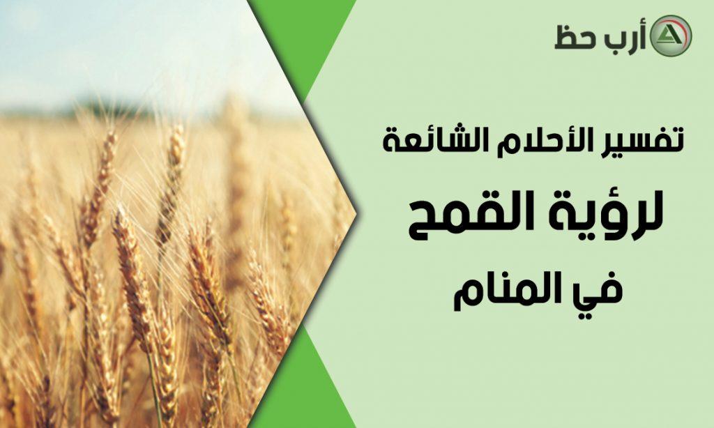 احلام شائعة عن رؤية القمح