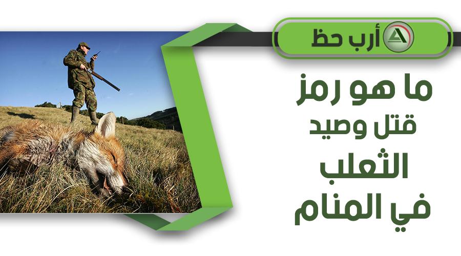 تفسير رؤية صيد وقتل الثعلب
